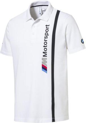 Koszulka Puma Bmw Mms Polo 57665302 - biały - Ceny i opinie T-shirty i koszulki męskie XVEA