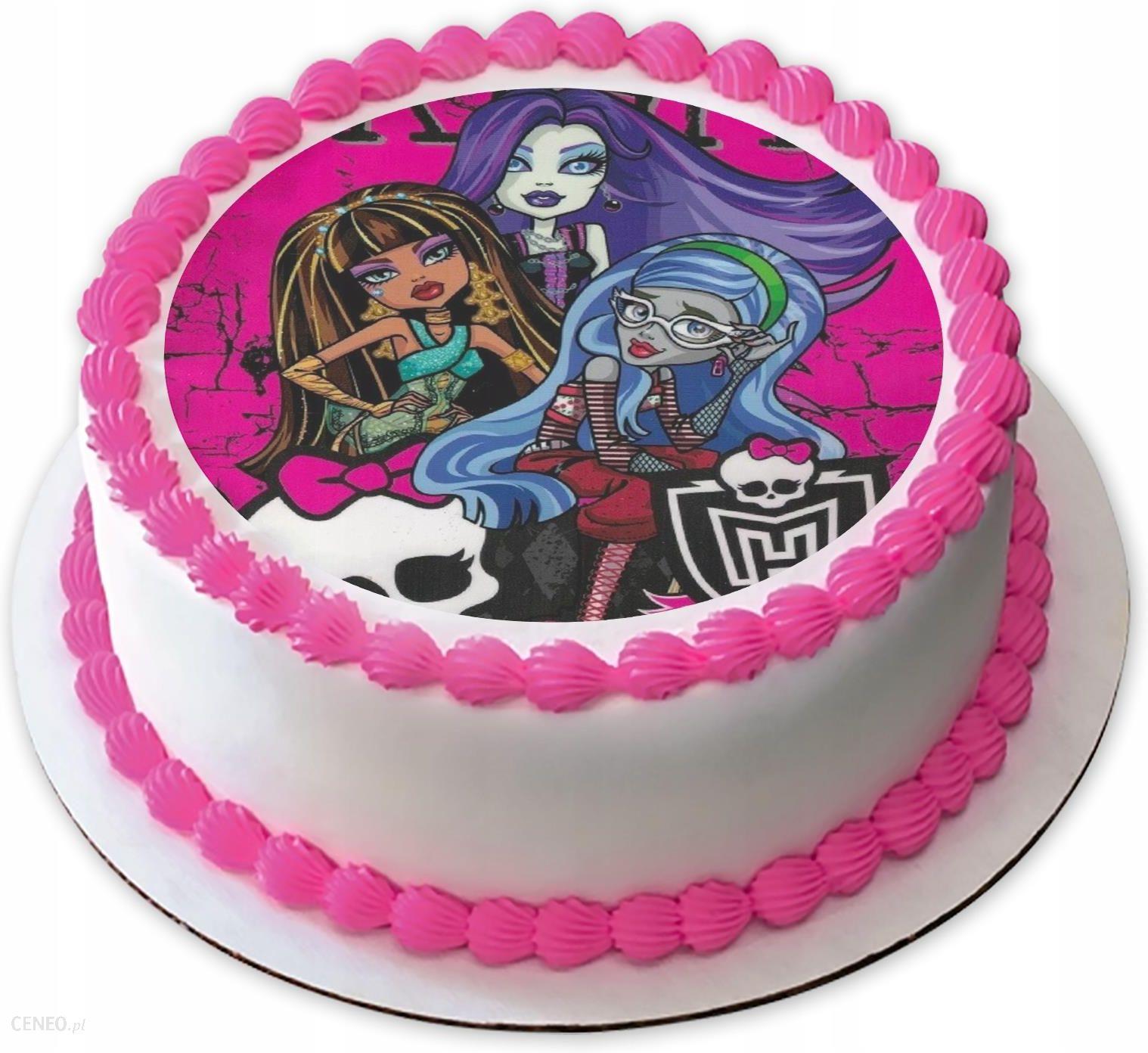 Monster High Dekoracja Oplatek Na Tort 20cm Ceny I Opinie Ceneo Pl