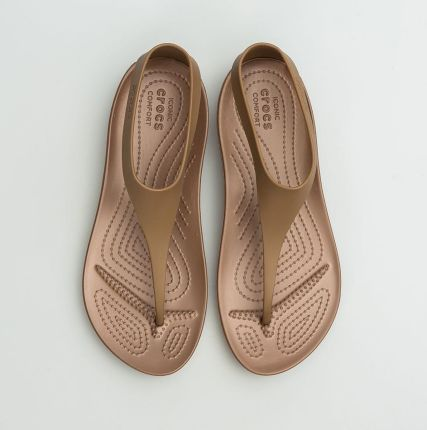 Sandały Crocs Isabella Huarache Flat W Bronze 202463 854