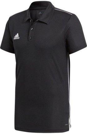 Koszulka męska adidas Core 18 Polo czarna CE9037 - Ceny i opinie T-shirty i koszulki męskie DOGT