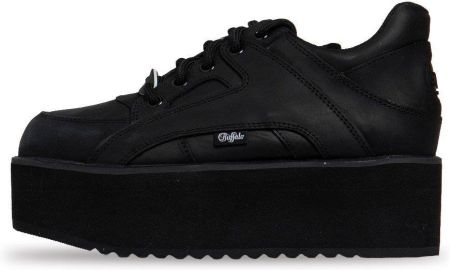 Buty Buffalo London Rising Towers Low Sneaker Nubuck Leather czarne (BN15330691)