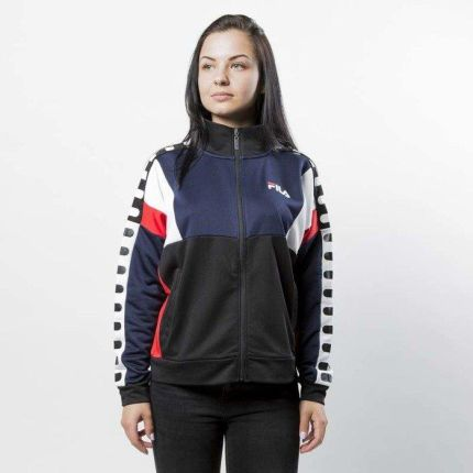 Kurtka Fila Shelby Track Jacket Woman black-peacoat-hight risk red
