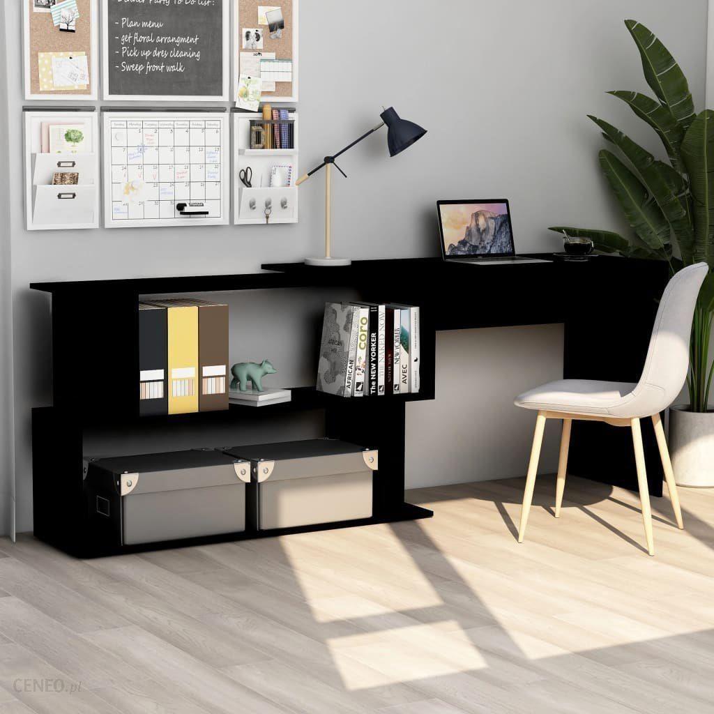 """""""Vidaxl"""" stalas """"Vidaxl"""" kampinis stalas, juodas, 200X50X76 cm, medžio drožlių plokštės"""