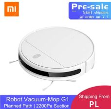 """PRE-SALE  XIAOMI MIJIA MI SWEEPING MOPPING ROBOT VACUUM CLEANER G1 FOR HOME CORDLESS WASHING 2200PA CYCLONE SUCTION SMART PLANNED WIFI"""
