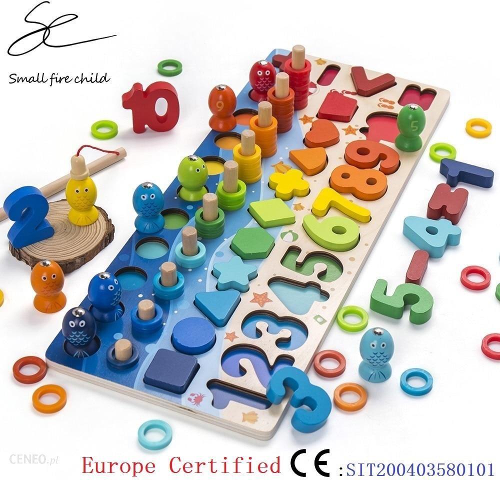 Aliexpress Zabawki Dla Dzieci Montessori Drewniane Edukacyjne Geometryczny Ksztalt Poznanie Puzzle Ceneo Pl