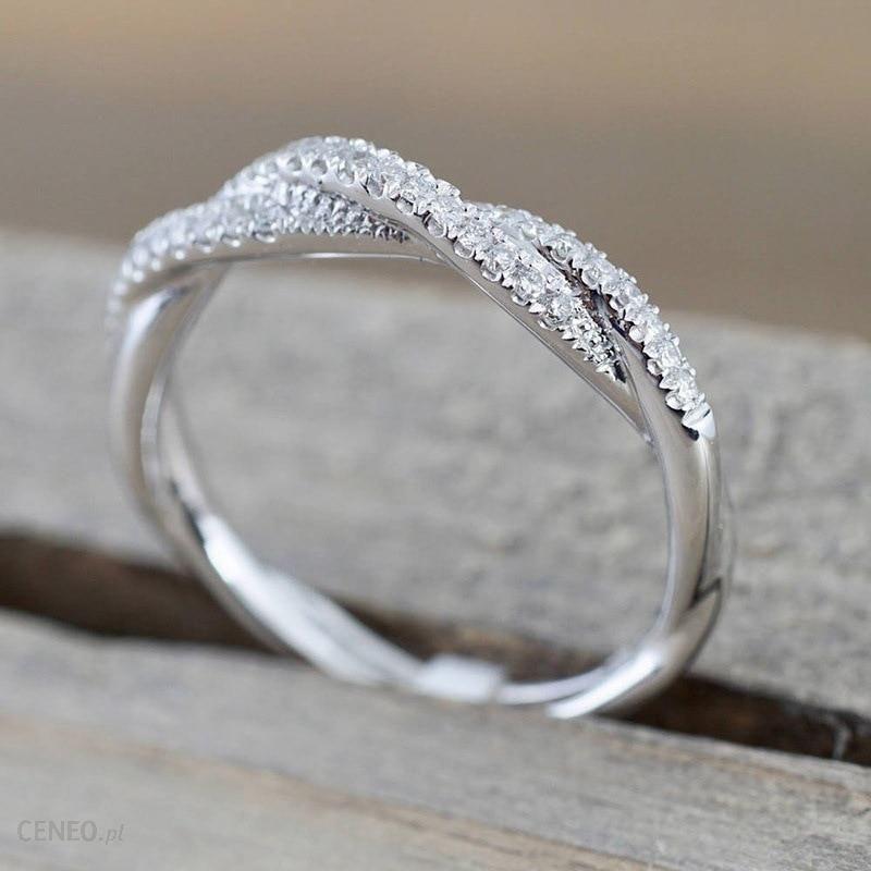 AliExpress IPARAM wzór skręcona lina pierścionek z kwiatem konopi złoty kolor srebrny mikro cyrkonia