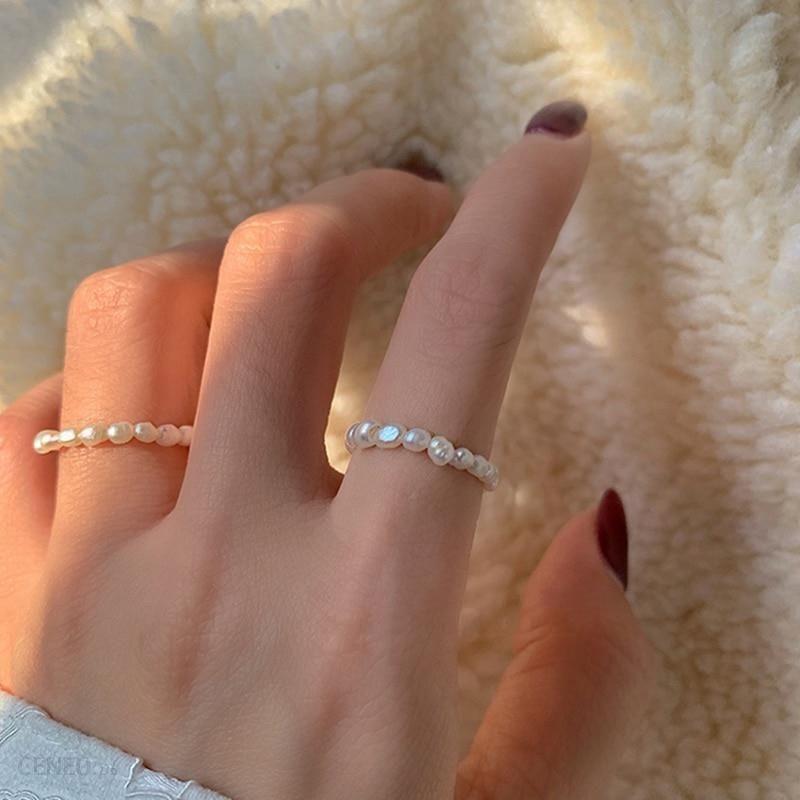 AliExpress Peri'sBox Multi zroszony pierścionki z perłą naturalna perła słodkowodna geometryczne pierścienie