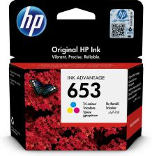 HP 653 (3YM74AE) - ORYGINALNY TUSZ, COLOR (KOLOR).