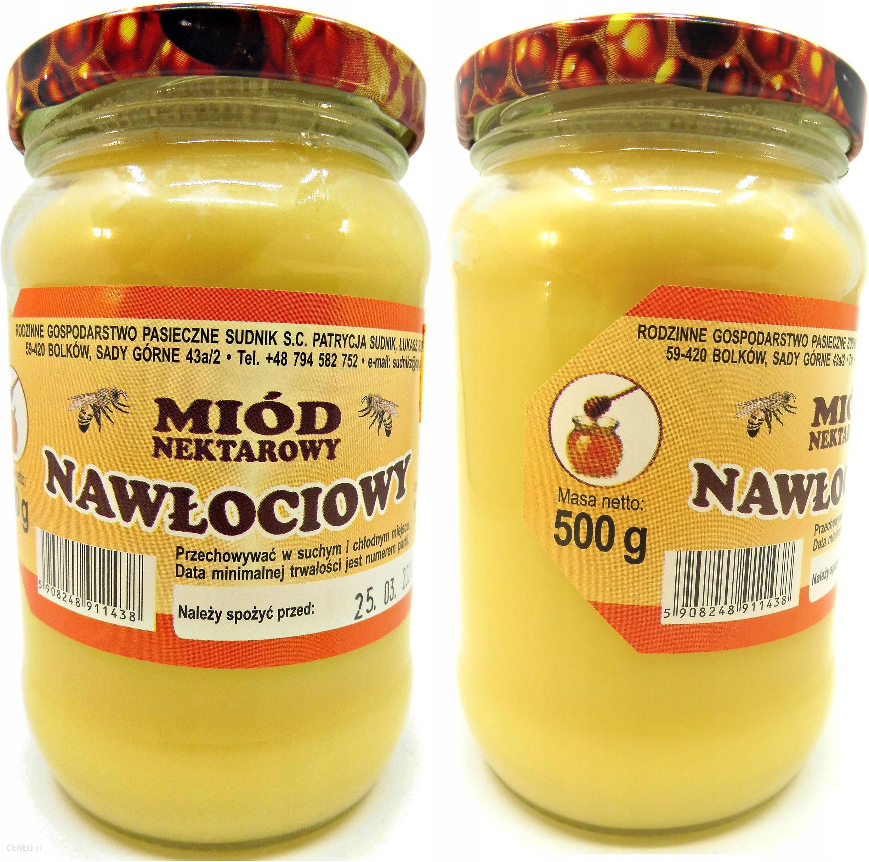Miód Nawłociowy Sudnik Polski 100% Naturalny 500 g