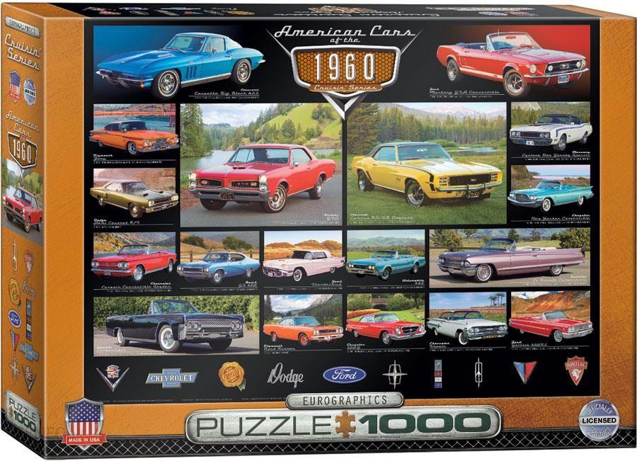 Eurographics Puzzle Amerykanskie Samochody 1000el Ceny I Opinie Ceneo Pl