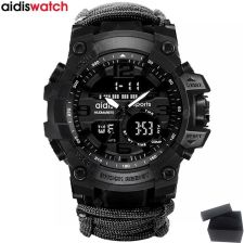 """TOP BRAND AIDIS MEN MILITARY WATCH FASHION OUTDOOR COMPASS WATERPROOF LED QUARTZ CLOCK SPORT MALE RELOGIOS MASCULINO"""