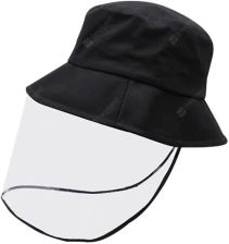 """PVC REMOVABLE PROTECTIVE FACE SHIELD PROTECTION BUCKET HAT ANTI DROPLETS INFECTION MASK COTTON CAP - 58CM BLACK"""
