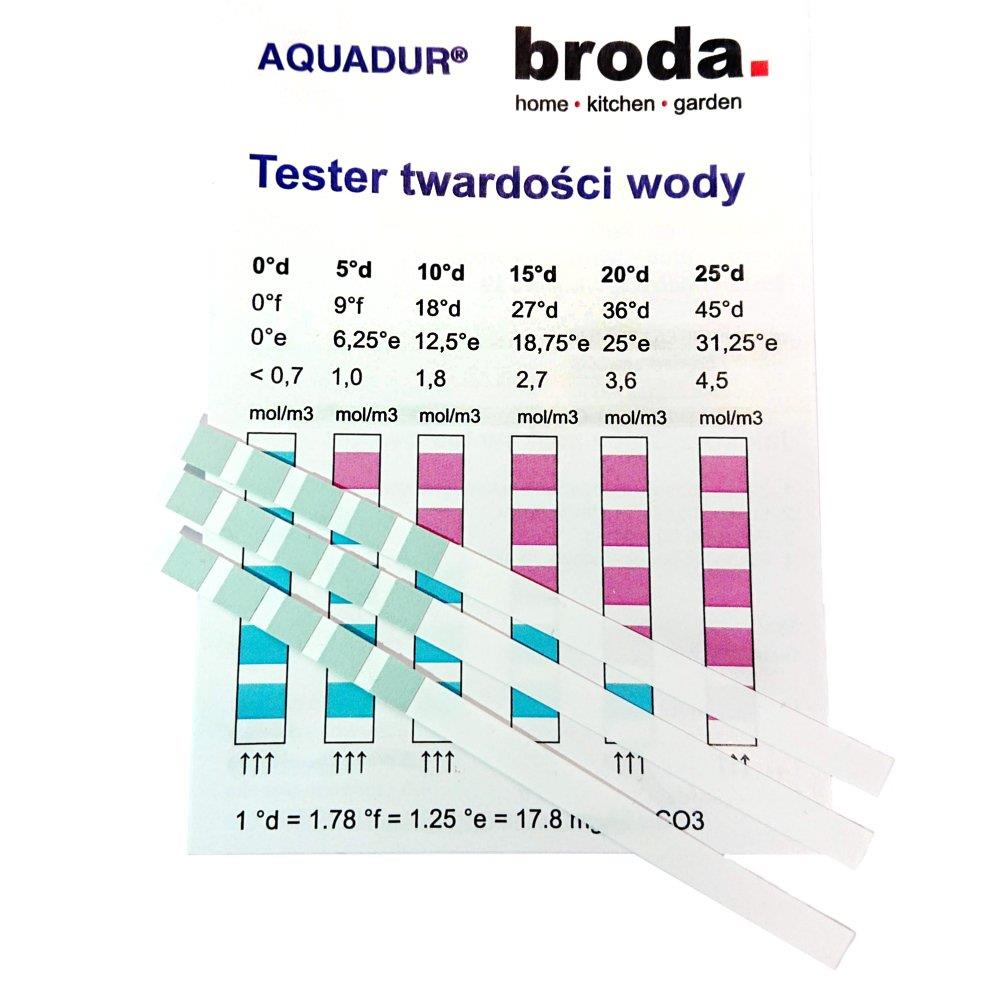Aquadur Paskowy Tester Twardości Wody 10 Szt. Aqual9122110