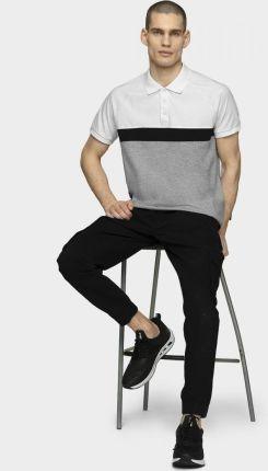 Koszulka polo męska TSM629 - biały - Ceny i opinie T-shirty i koszulki męskie GOOV