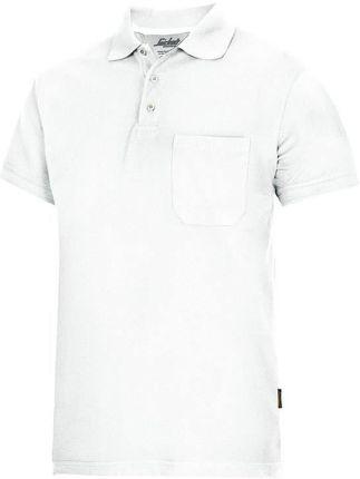 Snickers Workwear Polo (Kolor Biały) - Ceny i opinie T-shirty i koszulki męskie CCOY