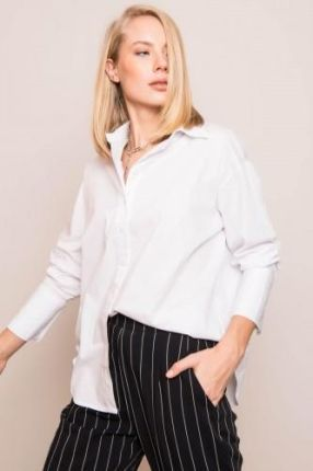 Mohito Długa koszula w paski Czarny damska Ceny i