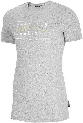 4F Koszulka T-Shirt Outhorn Tsm606 Średni Szary Melanż (Hol20-Tsm606-24M) - Ceny i opinie T-shirty i koszulki męskie LSON