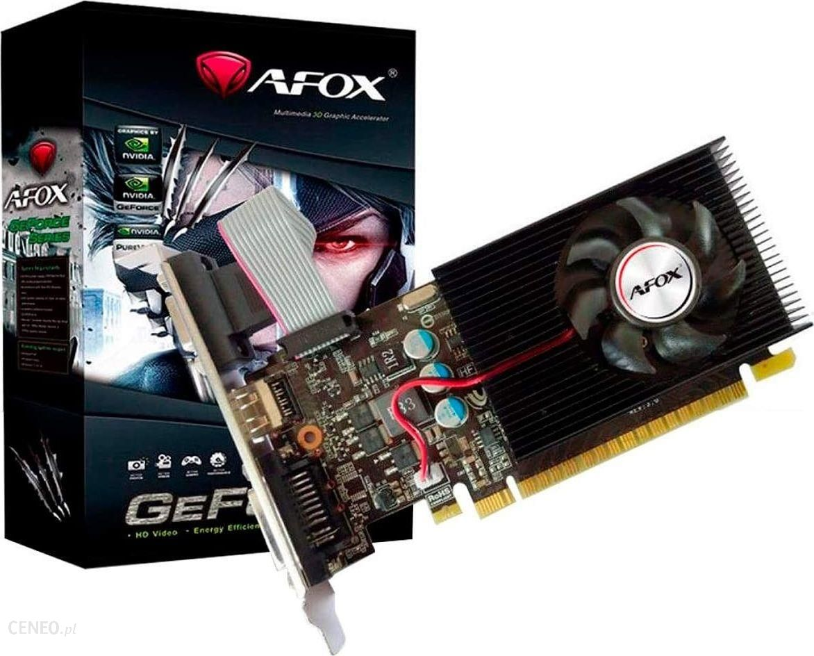 """AFOX Geforce GT 730"" vieno ventiliatoriaus V6 4GB DDR3 (AF730-4096D3L6)"