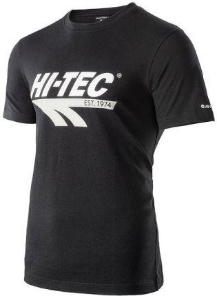 Koszulka męska Retro Hi-Tec (black) - Ceny i opinie T-shirty i koszulki męskie AGJJ