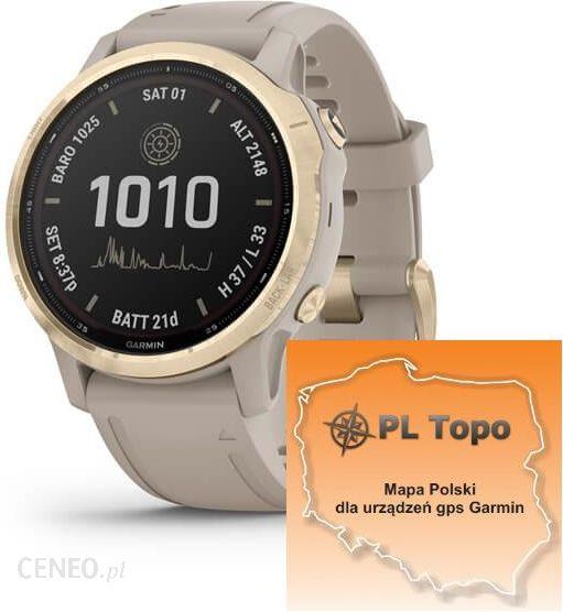 Garmin Fenix 6s Pro Solar Jasnozloty 010 02409 11 Pl Topo 2020 1 Pulsometry Ceny I Opinie Ceneo Pl