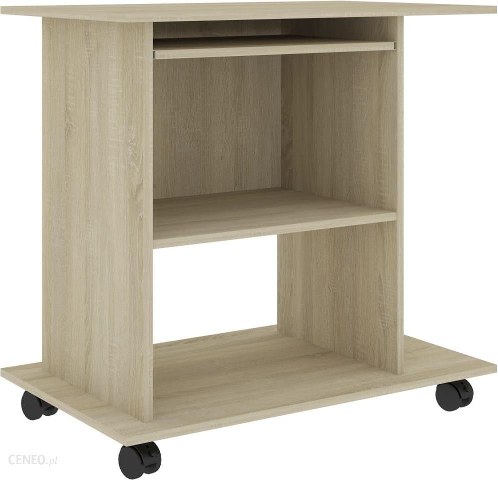 Kompiuterio stalas, sonoma ąžuolas, 80x50x75 cm, medžio drožlių plokštė