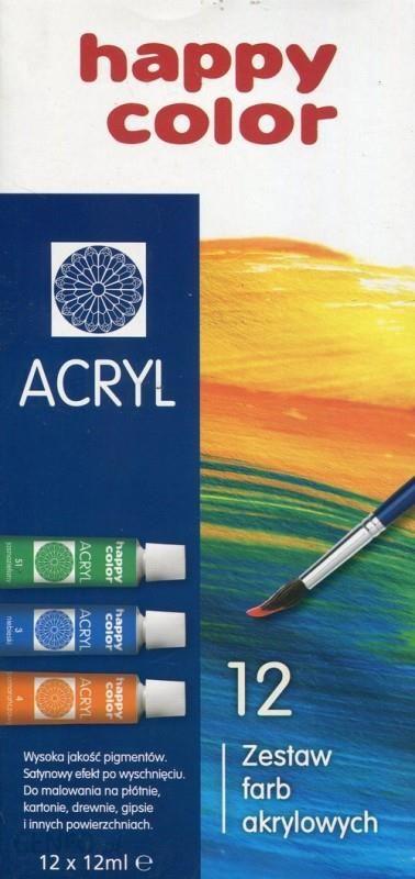 Akrilinių dažų rinkinys iš 12 spalvų