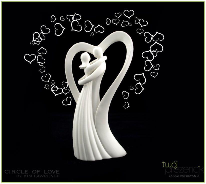 Circle Of Love Love Of My Live Para Młoda Dekoracja Tortu Figurka