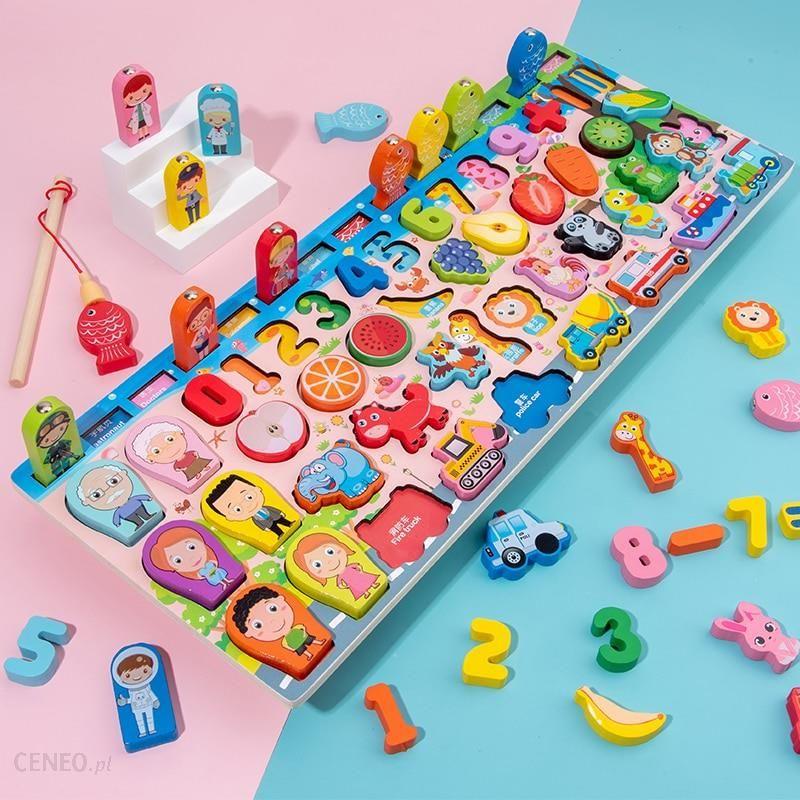 Aliexpress Montessori Drewniane Zabawki Edukacyjne Dzieci Zajety Deska Matematyka Wedkarstwo Ceneo Pl