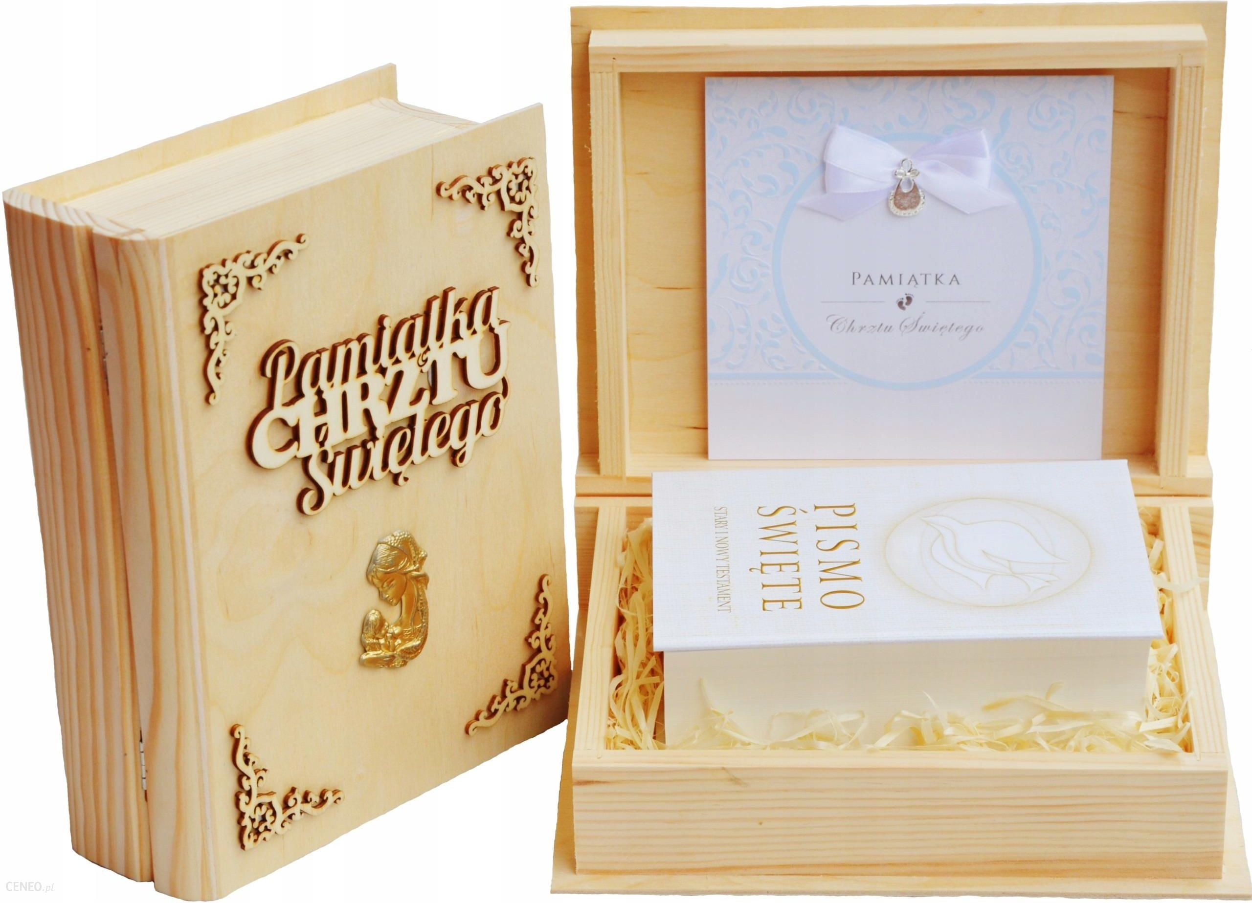 prezent na chrzest złoty Pismo Święte