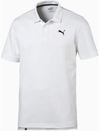Koszulka męska polo Training Essentials Puma (biała) - Ceny i opinie T-shirty i koszulki męskie GIRX