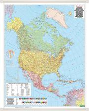 Ameryka Polnocna Mapa Scienna Polityczna 1 8 000 000 Freytag