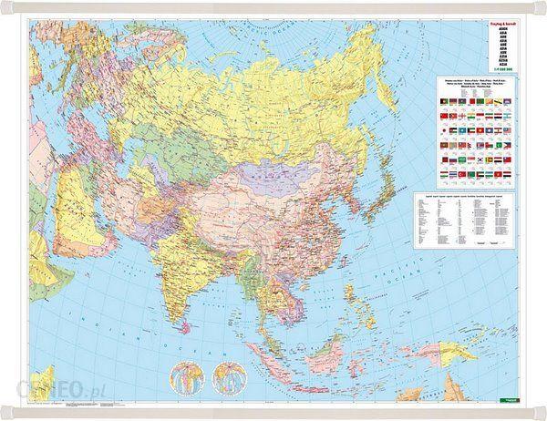 Azja Mapa Scienna Polityczna 1 9 000 000 Freytag Berndt Ceny I