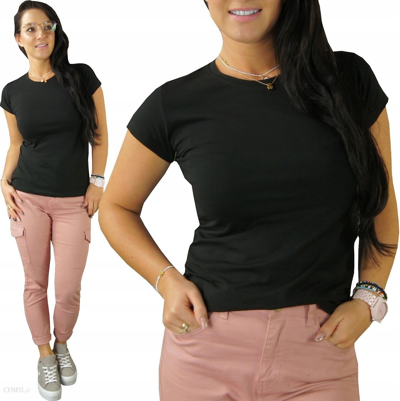 Bluzka Bawelniana Z Lycra T Shirt Dopasowana L Ceny I Opinie Ceneo Pl