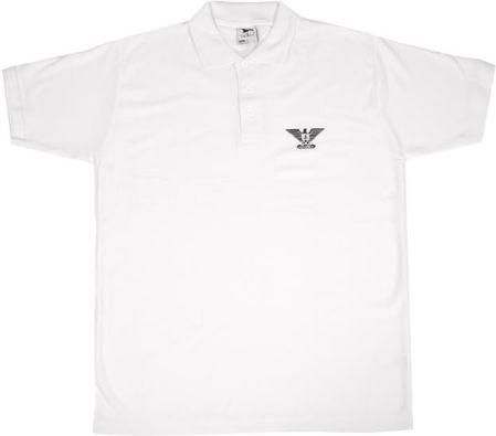 Koszulka Heavy AFG eagle Polo, kolor biały - Ceny i opinie T-shirty i koszulki męskie KWZO