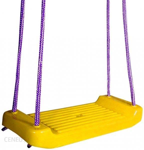 Bagiński Ogrodowa HUŚTAWKA dla Dzieci DESKA Plastikowa Żółta