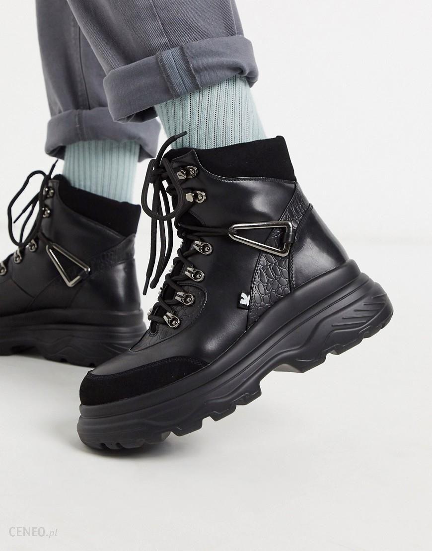 Koi Footwear Czarne Weganskie Buty Gorskie Na Grubej Podeszwie Czarny Ceny I Opinie Ceneo Pl
