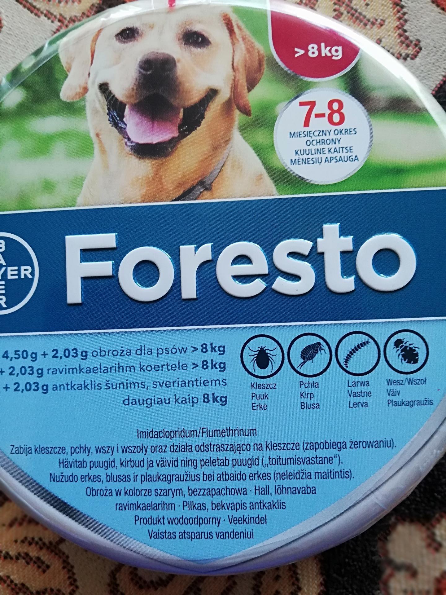 Bayer Foresto Obroza Przeciw Pchlom I Kleszczom Dla Psow Powyzej 8kg Opinie Komentarze O Produkcie 1