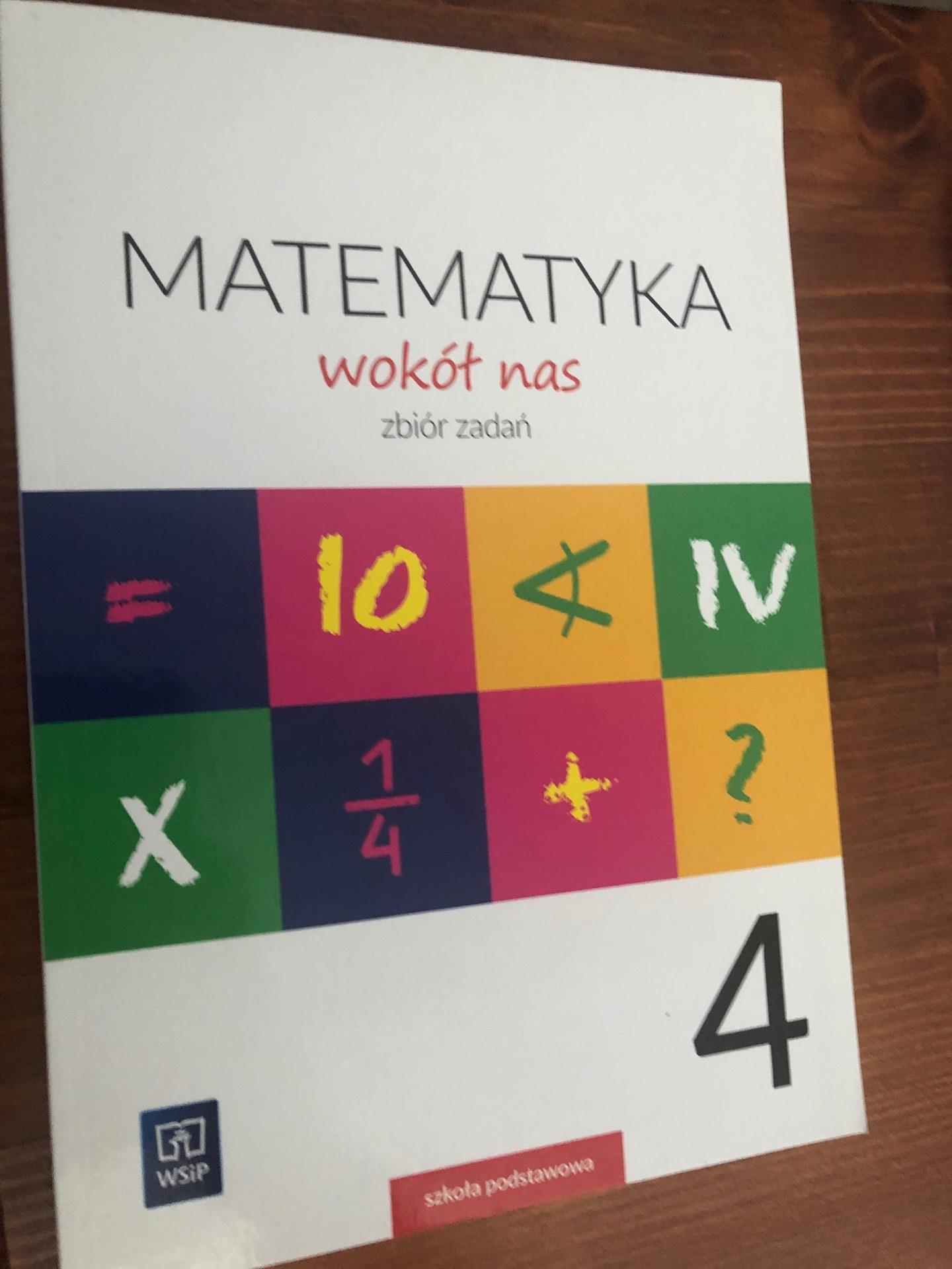 matematyka wokół nas zbiór zadań klasa 4 pdf