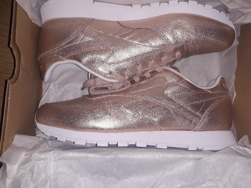 2c6744b180ffc Popularne opinie o Buty damskie sneakersy Reebok Classic Leather Melted  Metal BS7897 - ZŁOTY