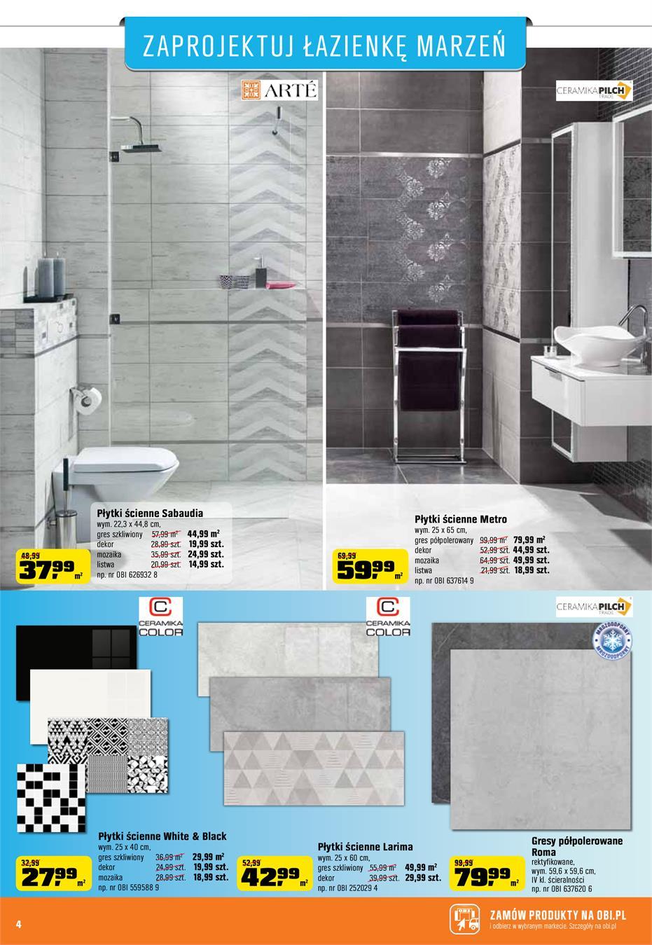 Gazetka Promocyjna Obipl Zaprojektuj łazienkę Marzeń Czerwiec