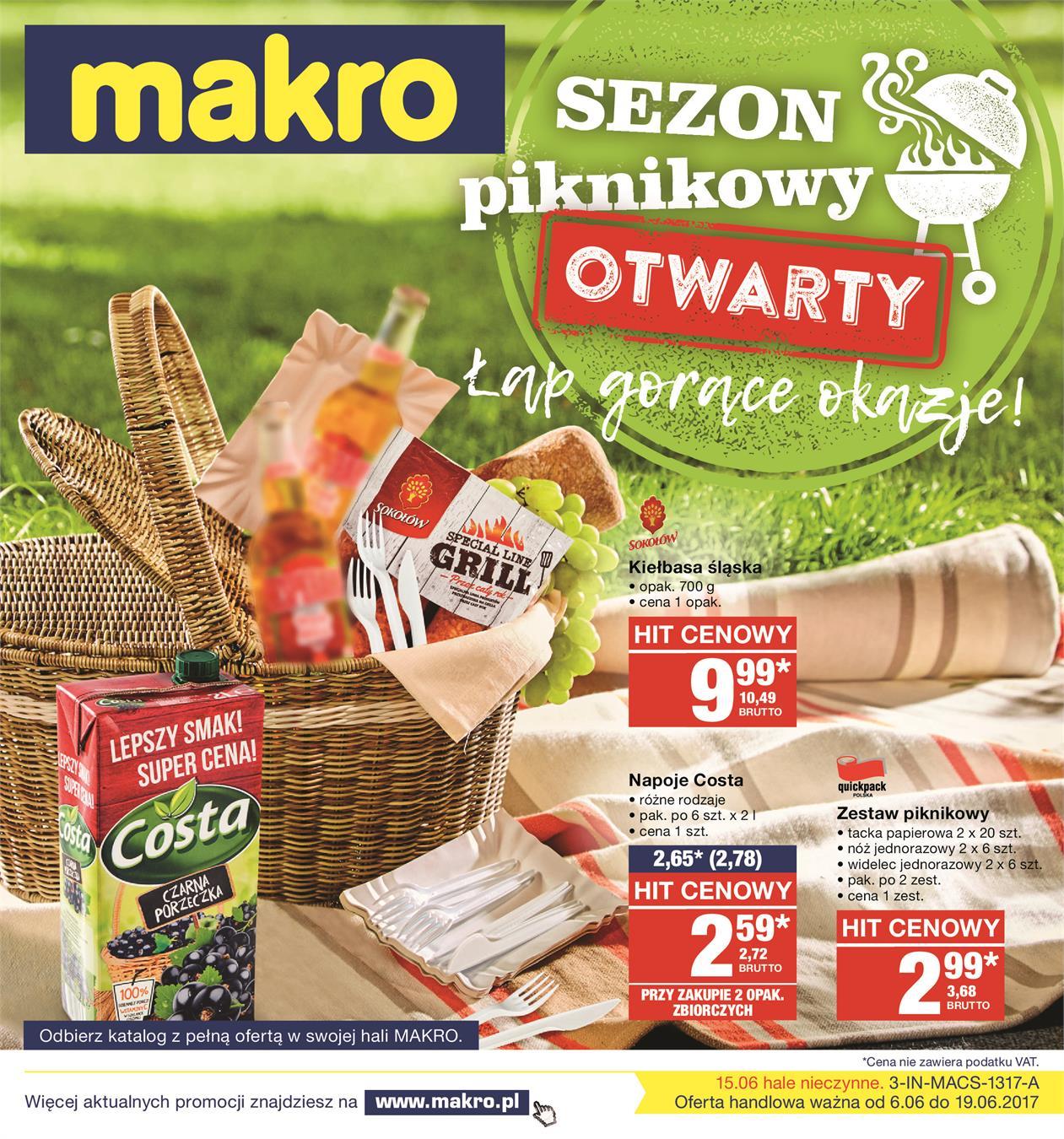 d22b1b8fc4baad Gazetka promocyjna Sezon piknikowy otwarty ważna od 06-06-2017 do 19-06-2017