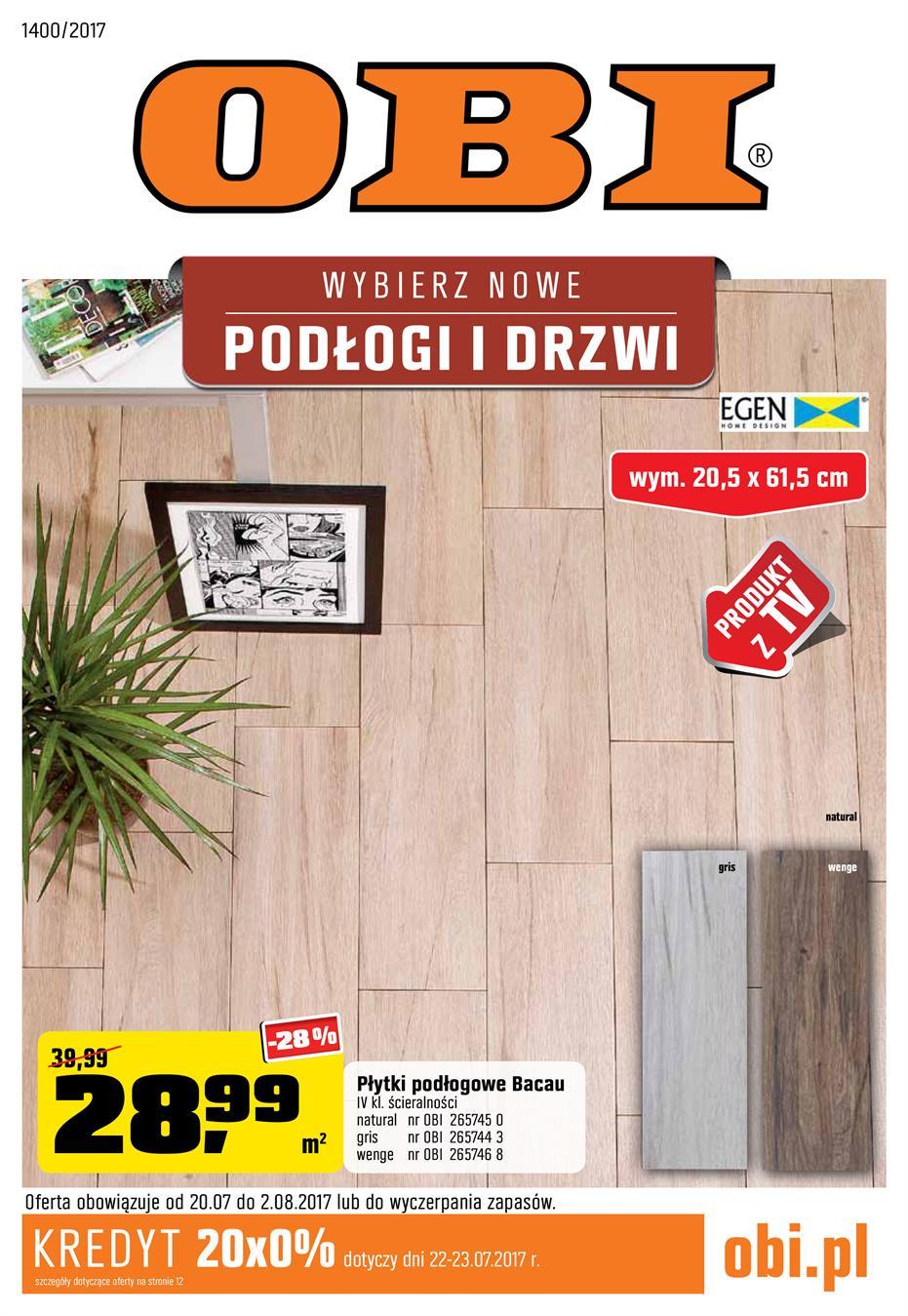 Gazetka Promocyjna Obipl Wybierz Nowe Podłogi I Drzwi