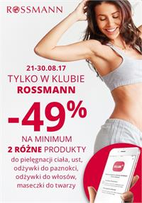 Gazetka nr Rossmann Supermarkety drogeryjne Polska Sp. z o.o. od  2017-08-21 do 2017-08-30