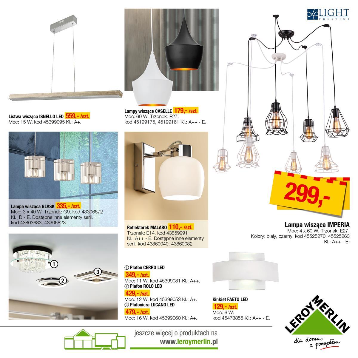 Gazetka Promocyjna Leroymerlinpl Katalog Oświetlenie