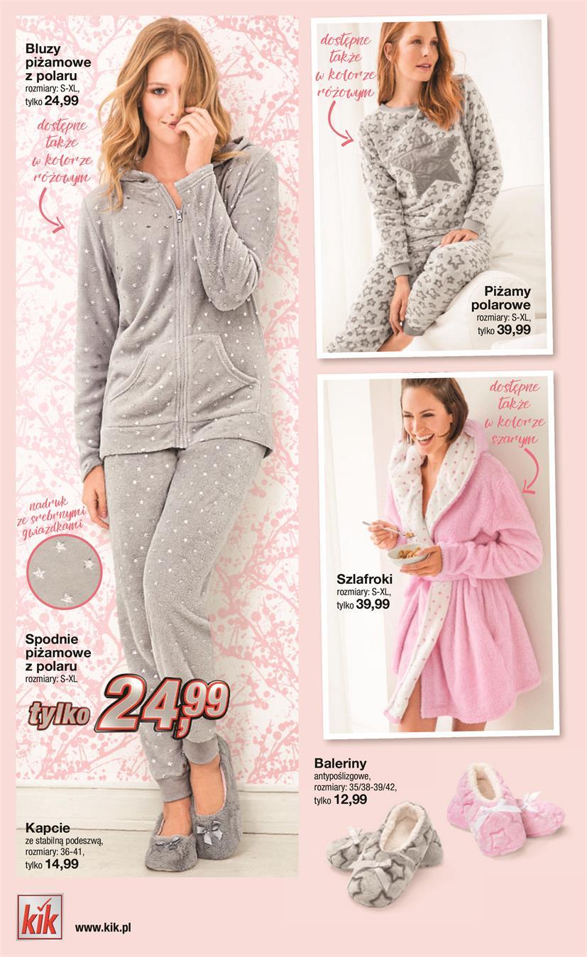 90d3f2132b7e31 Piżamy polarowe. Kombinezony polarowe. SZALEŃSTWO Z K K www.kik.pl. Bluzy  piżamowe zpolaru rozmiary: S-XL, tylko 24,99. Piżamy tylko 39,99
