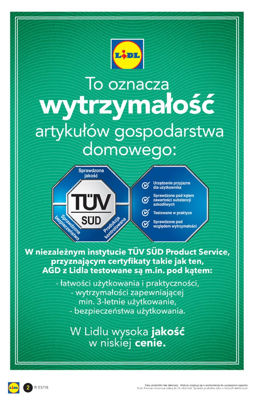 Gazetka Lidl Polska Sp. z o.o. nr 2 od 2018-01-15 do 2018-01-21