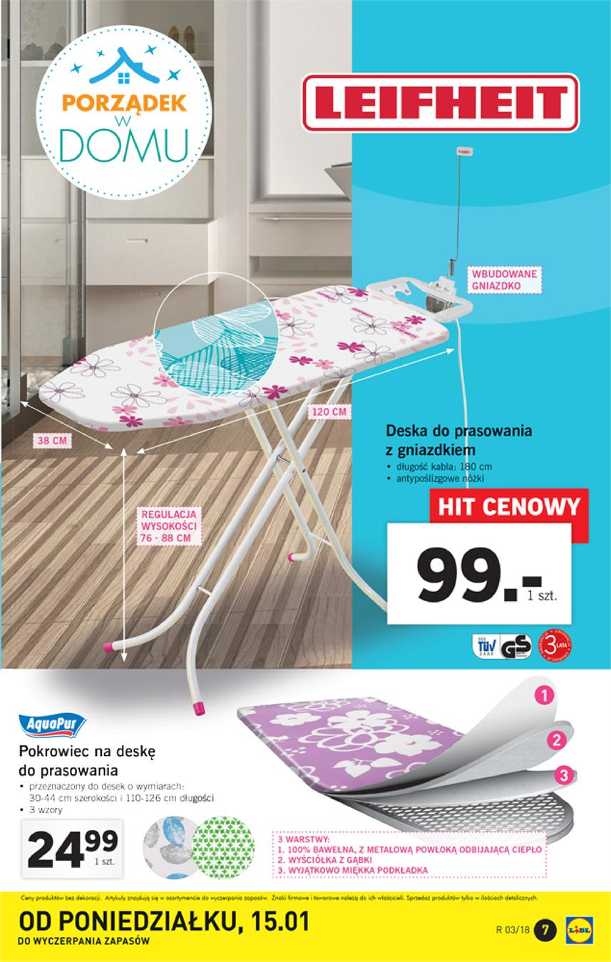 Gazetka Lidl Polska Sp. z o.o. nr 7 od 2018-01-15 do 2018-01-21
