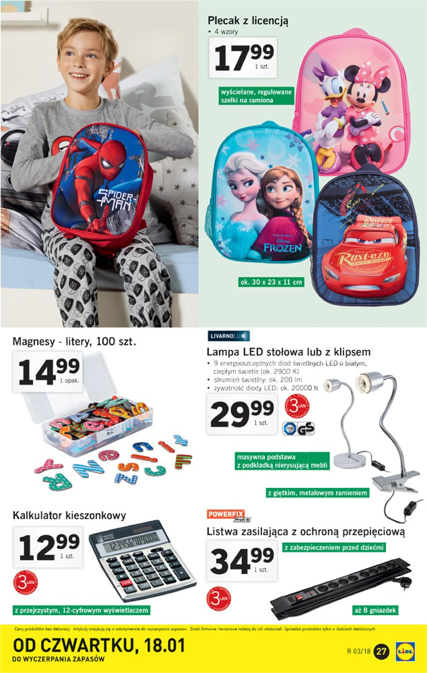 Gazetka Lidl Polska Sp. z o.o. nr 27 od 2018-01-15 do 2018-01-21
