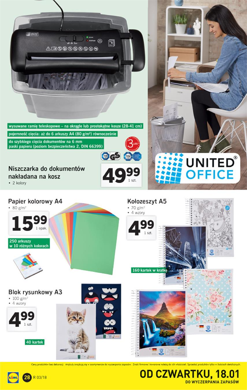 Gazetka Lidl Polska Sp. z o.o. nr 28 od 2018-01-15 do 2018-01-21