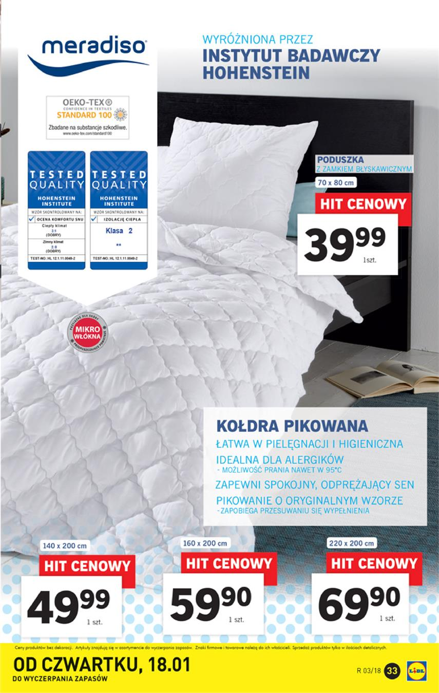 Gazetka Lidl Polska Sp. z o.o. nr 33 od 2018-01-15 do 2018-01-21